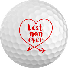 """Mother's Day Gift """"Best Mom Ever"""" Golf Ball 3 Pack"""