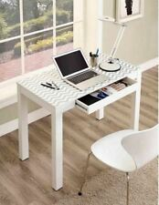 White Student Desk For Bedroom Writing Small Spaces Home Office Computer Stand