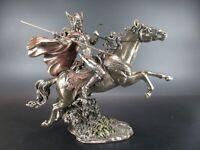 Walküre Schlachtjungfer Schildjungfer bronzierte Figur 30 cm,Veronese Kollektion
