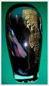 Kristallglas Vase der Brüder LOUMANI, Valbonne France sign.1994