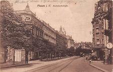 Plauen Vogtland Bahnhofstrasse Kinder, Strassenbahn, Geschäfte 1920