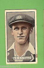 1936-1937 ALLEN'S CRICKET CARDS #6  C. V. GRIMMETT