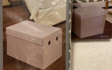 Essential Home Storage Ottoman & Chest - Moroccan Taupe - Set of 2