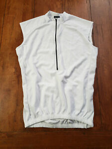 Oakley Cycling Jersey Men's Large Sleeveless White New Old Stock NOS