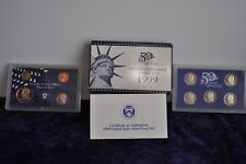 1999 United States Proof set 9 coins with COA In storeage 19 years 1st owner