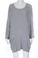 Jil Sander Womens Striped Long Sleeve Shirt Dress White Black Size Small
