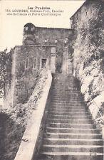 LOURDES 753 château-fort escalier des sarrasins et porte charlemagne