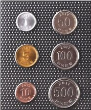 Südkorea, 1 – 500 Won, 6 Münzen
