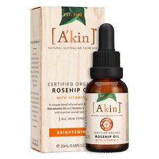 A'kin Certified Organic Rosehip Oil with Vitamin C - 20ml