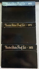 1973  US MINT PROOF COIN SET. 18 Coins In 3 Lots.