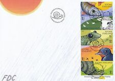 Finland 2008 FDC Sheet - Fish Sheep Frog Swallow Snail - forecasting weather