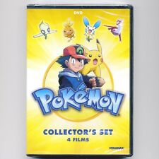 4 Kids' animated G movies: Pokemon Collectors Set, new DVDs, over 5 hours, Dove