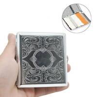 Stainless Steel Cigarette Case Fashion Yn613 Embossed Case~ Cigarette Metal V5U5