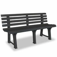 "Patio Garden Bench Chair Park Yard Outdoor Chair Furniture 57.3"" Plastic New"