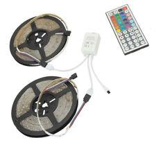 SUPERNIGHT® 2Pcs 5m RGB 300Leds 3528 SMD LED Strip Light IP33+44Keys Controller
