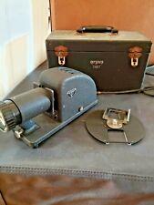 Vintage Circa 1940's Portable Black Argus Slide Projector with Original Case