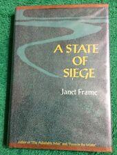 Vintage 1966 A State Of Siege Janet Frame Hardback Fiction Book Suspense Read