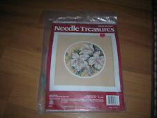 NEEDLE TREASURES WHITE AZALEA CROSS STITCH KIT #06578