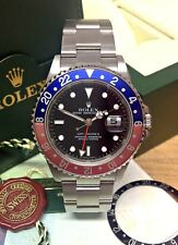 Rolex GMT Master II 16710 Pepsi Rectangle Dial - B&P 2006 - Full Set!