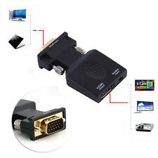 New VGA to HDMI 1080P Full HD HDTV Video 3.5mm Audio Converter Box Adapter