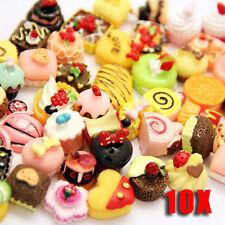 10 Pcs Multicolor Mixed lot Food Resin Flatback Kawaii Cabochons Decoden Pieces