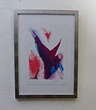Paul Jenkins USA , Farblithografie, handsigniert Echt Weißgoldrahmen! TOP!
