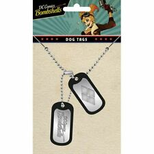 DC Harley Quinn Logo Dog Tag Pendant Necklace - Suicide Squad Bombshells Comics