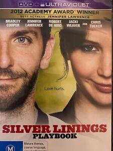SILVER LININGS PLAYBOOK DVD Bradley Cooper Jennifer Lawrence 2012 AS NEW!