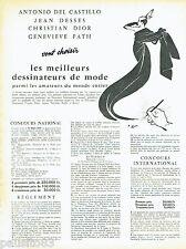 PUBLICITE ADVERTISING 016  1957  Ies meilleurs dessinateurs de mode René Gruau