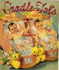 Vintage Uncut 1945 Cradle Tots Paper Dolls~#1 Reproduction~Adorable Set!