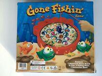 Gone Fishing Fishin' Game Kids Child Rotating Board Game w/ Fishing Poles Age 4+