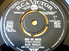 "ELVIS PRESLEY - KISS ME QUICK  7"" VINYL"