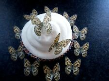 30 Small Edible Leopard Print Butterflies wafer/rice paper cake/cupcake toppers