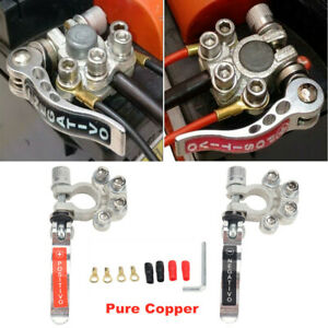 2PCS Pure Copper Universal Car Trailer Battery Terminal Disconnect Switch Link