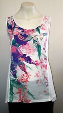 Gorgeous White & Floral Vest Top Camisole from BHS Authentic - Size 10 - BNWOT!