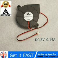 1Pc Brushless DC Cooling Blower Fan 5V 5015s 50x50x15mm 0.14A Sleeve 2 Pin Wire*