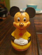 New listing 1975 Gabriel Industries Mickey Mouse Weeble Wobble Toy Walt Disney Productions
