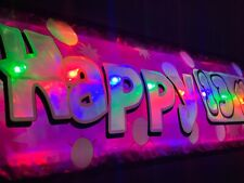 Pink Happy 13th  Birthday banner LED flashing light up sign decorations Teenager