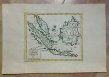 MALAYSIA BORNEO JAVA SUMATRA 1749 ROBERT DE VAUGONDY ANTIQUE MAP IN COLORS