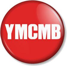 "YMCMB 25mm 1"" Pin Button Badge Young Money Cash Money Billionaires Records Rap"