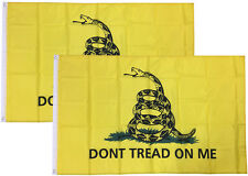 2 PACK - 3x5 Ft Gadsden DONT TREAD ON ME Culpepper Rattlesnake Tea Party Flag yb