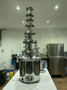 """Used 56"""" 7 Tier Commercial Chocolate Fountain Fondue Catering Buffett Restaurant"""