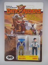Dino Riders Figuren Six-Gill & Aries in OVP GiG 1983 MOC (1512)