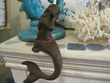 Cast Iron Sitting Mermaid - Mermaids - Collectible - Beach Decor - Gifts