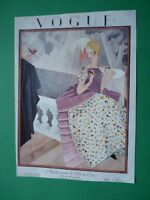 Vogue Paris Magazine 1 Juillet 1924 July Original Cover Only Art Deco Plank Rare