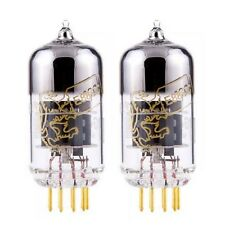 New Gain Matched Pair (2) Genalex Gold Pin Lion Reissue 6922 / E88CC Tubes