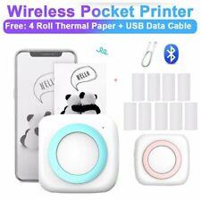 tragbar Mini Thermodrucker für Smartphone Handy Fotodrucker Rechnung USB