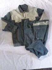 PHAT FARM vintage blue contrast denim jacket baggy jeans suit set 38x33 XL