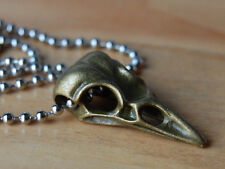 Bronze Bird Skull Pendant,Raven,Bellatrix Lestrange Necklace,Harry Potter,Gothic