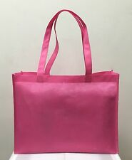 10 PINK SHOPPING BAGS ECO FRIENDLY REUSABLE RECYCLABLE GIFT PROMO BAG 12x16x5
